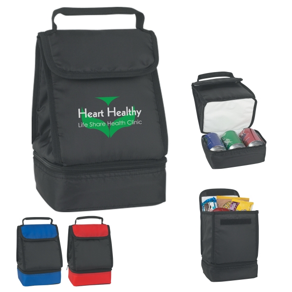 Dual Compartment Lunch Bag