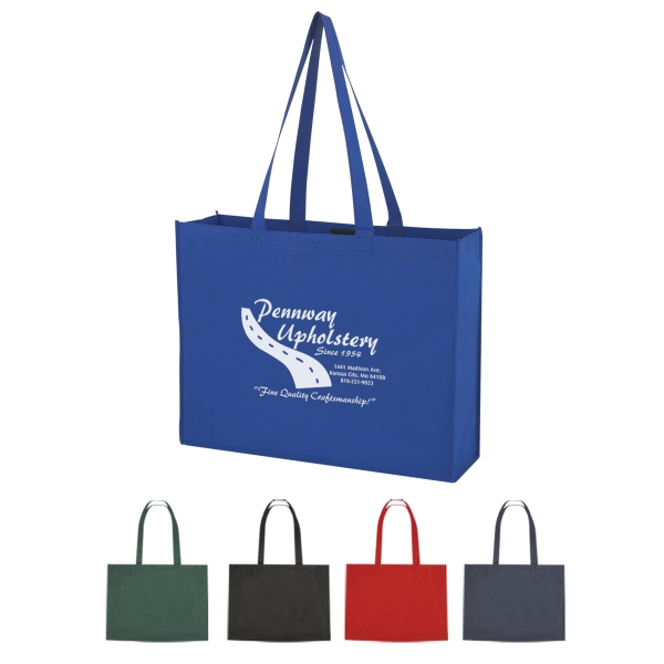 Non-Woven Shopper Tote with Velcro® Closure