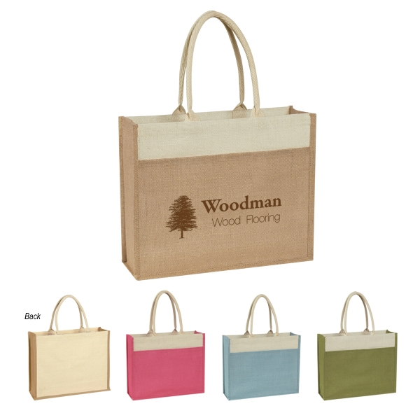Jute Tote with Front Pocket