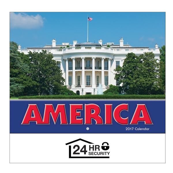 2017 America! Wall Calendar - Stapled