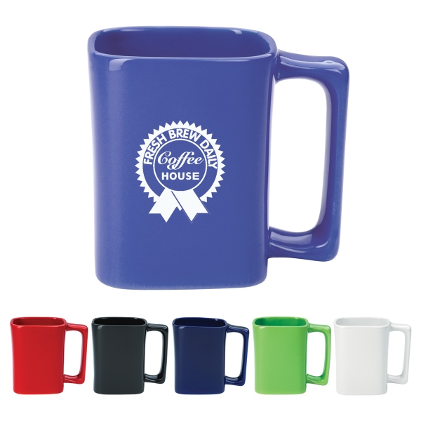 11 oz. Colored Square Mug