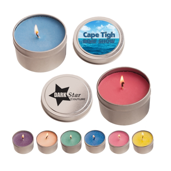 Round Tin Soy Candle