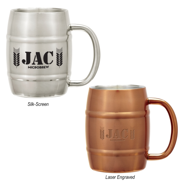 14 oz. Moscow Mule Barrel Mug