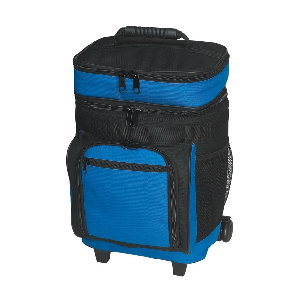 30 Can Rolling Kooler - Large insulated rolling cooler, holds up to 30 cans, made of 420 denier polyester.