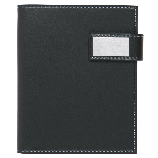 Leatherette Notebook With Magnetic Closure