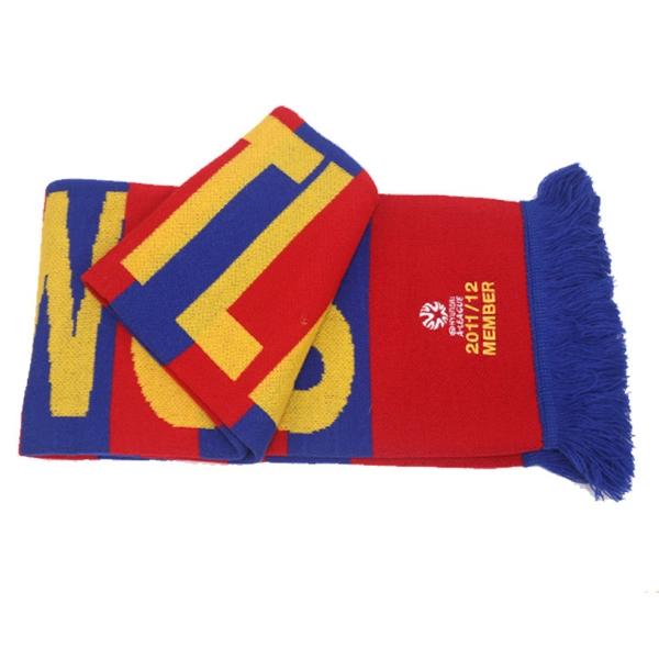 Acrylic Knit Sports  Fan Tassels Scarf