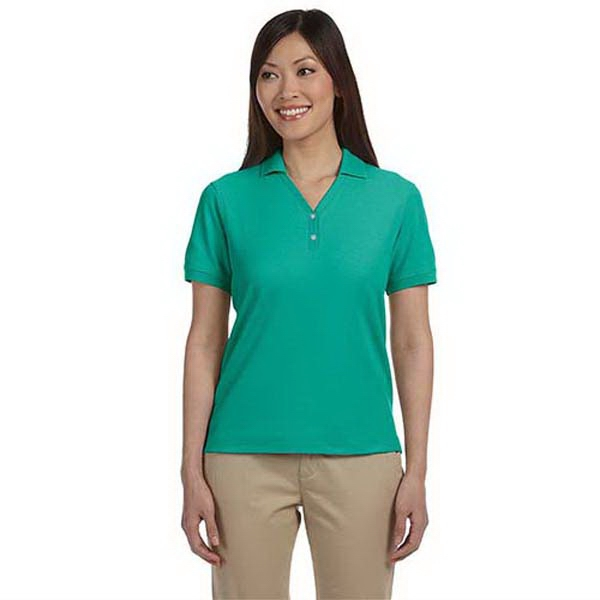 Devon & Jones Ladies' Pima Pique' Short Sleeve Polo
