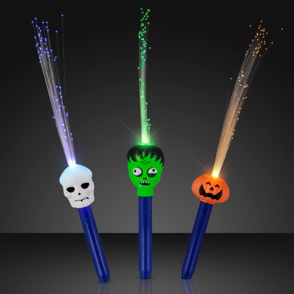 Fiber optic Halloween wand