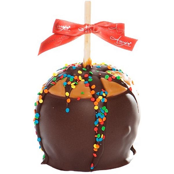 Birthday Dunked Caramel Apple w/ Dark Belgian Chocolate