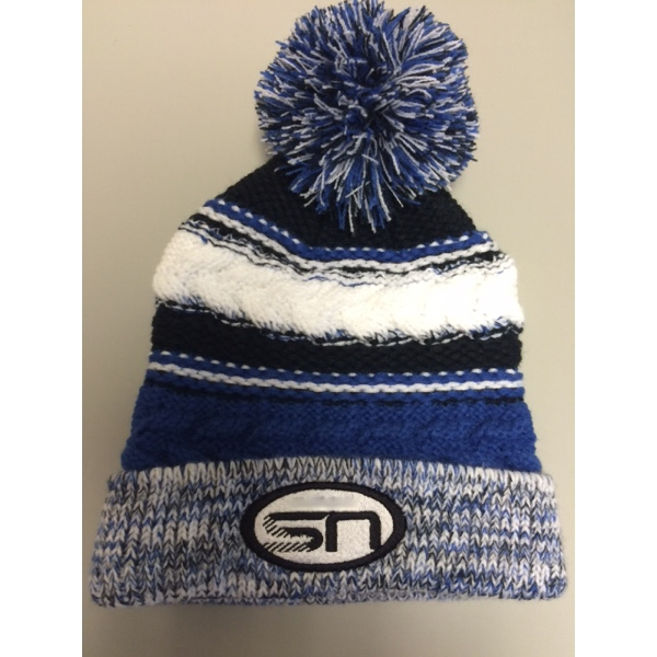 Pom Team Knitted Beanie