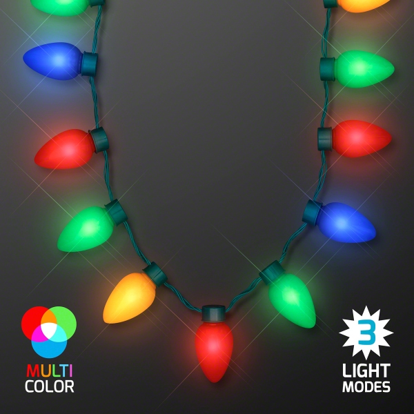 Jumbo Christmas Bulb Light Necklaces