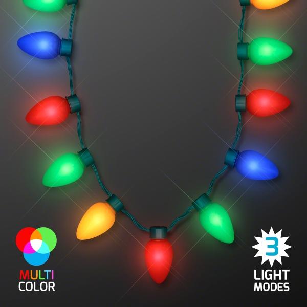 Jumbo Christmas Bulb Light Necklaces