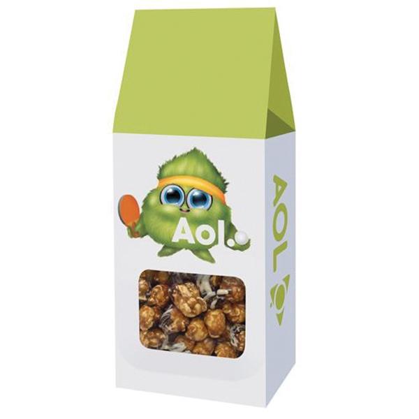 Gourmet Popcorn Gable Box - White & Dark Chocolate Swirl