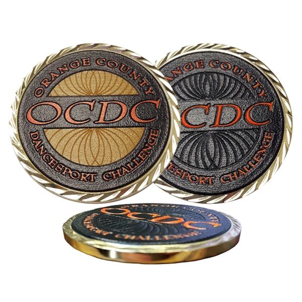 """2"""" Custom Texture Tone Double Sided Coin"""