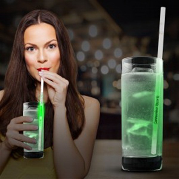 Green Glow Motion Straws- 9""