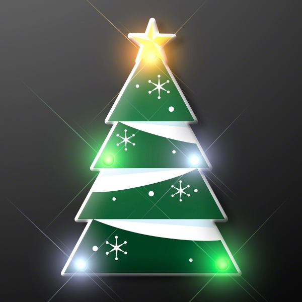 Blinky LED Christmas Tree Pin
