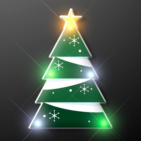 Blinky LED Christmas Tree Pin