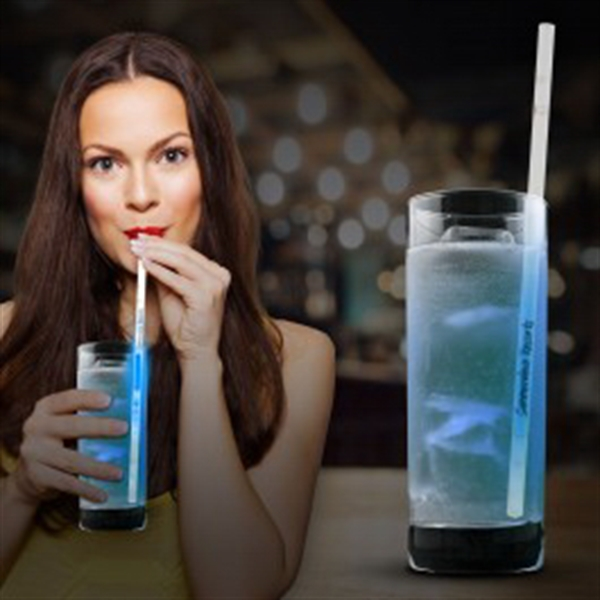 Blue Glow Motion Straws- 9""