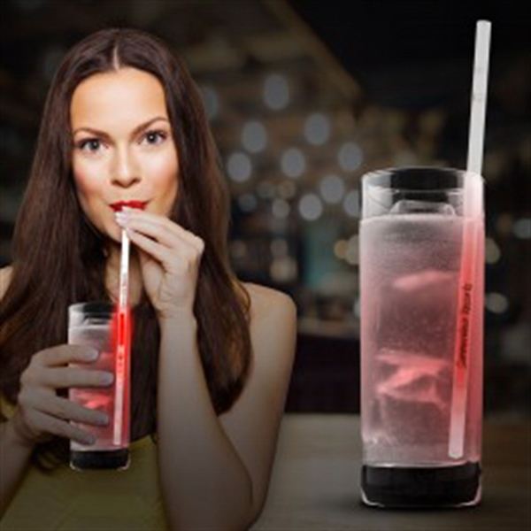 Red Glow Motion Straws- 9""