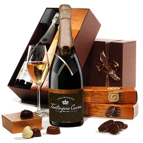 Champagne & Godiva Gift Box