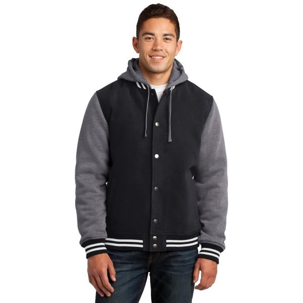 Sport-Tek Insulated Letterman Jacket. - Sport-Tek Insulated Letterman Jacket.
