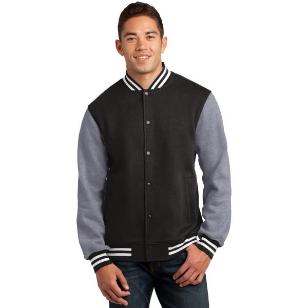 Sport-Tek Fleece Letterman Jacket. - Sport-Tek Fleece Letterman Jacket.