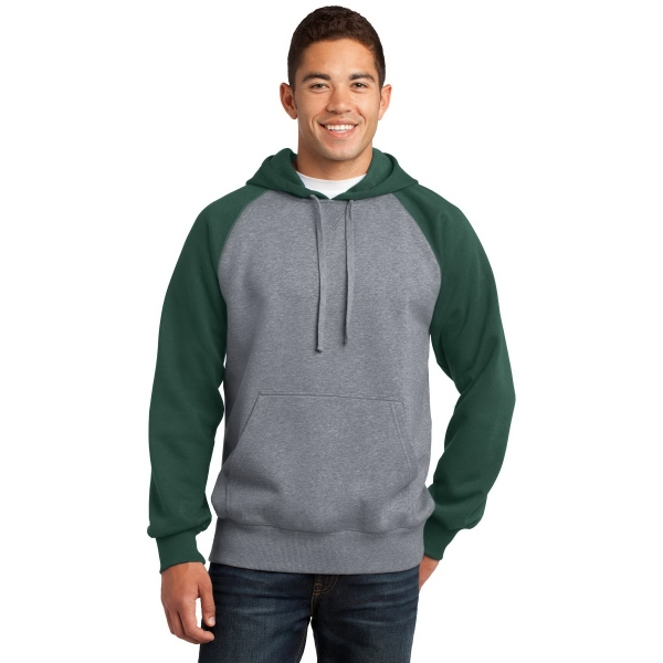 Sport-Tek Raglan Colorblock Pullover Hooded Sweatshirt. - Sport-Tek Raglan Colorblock Pullover Hooded Sweatshirt.