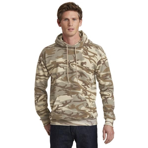 Port & Company Core Fleece Camo Pullover Hooded Sweatshirt.