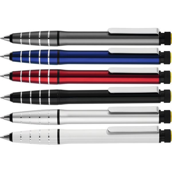 2in1 Plunger-Action Pen