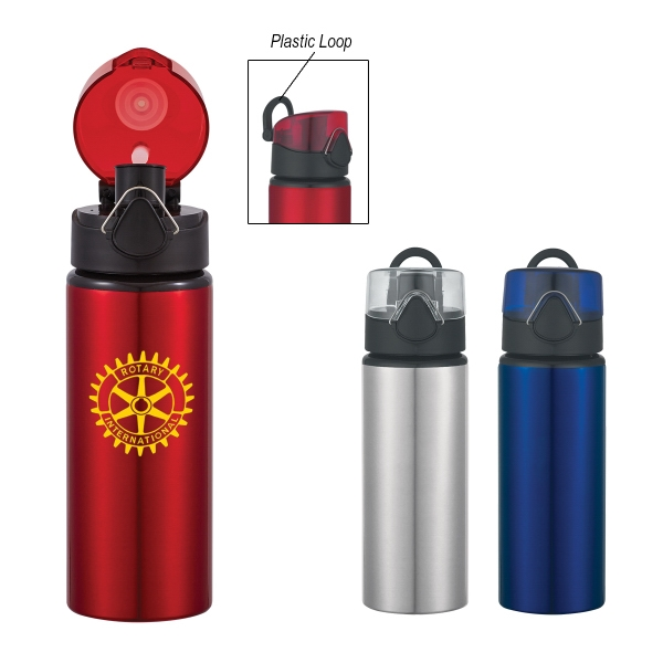 25 oz. Aluminum Sport Bottle with Flip Top Lid