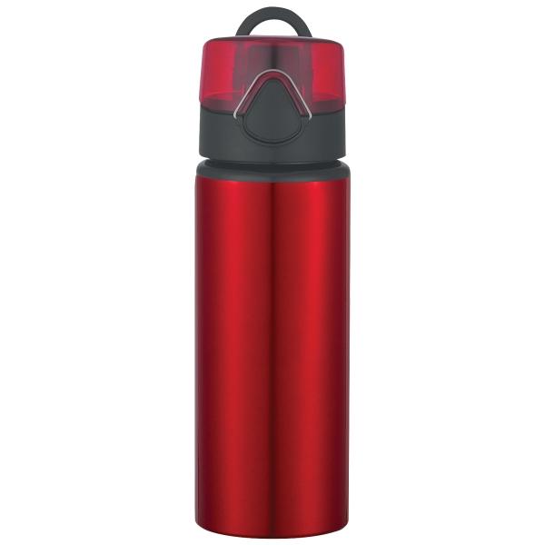 25 Oz. Aluminum Sports Bottle With Flip Top Lid