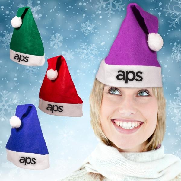 Felt Santa Hats - Variety of Colors
