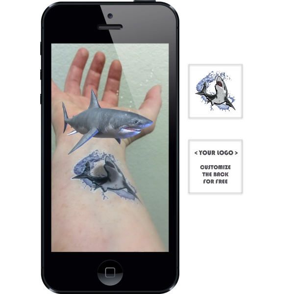 Augmented Reality Tattoos - Great White Shark