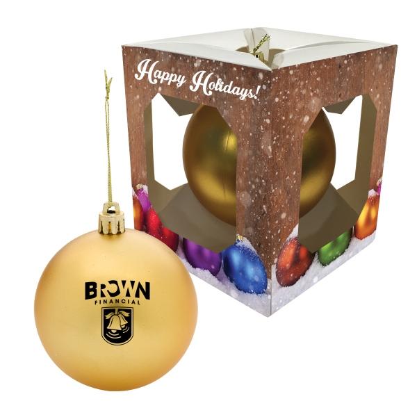 Round Ornament In Window Box