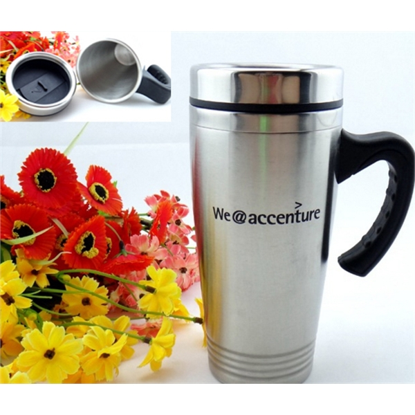 15 Oz. Stainless Steel Travel Tumbler