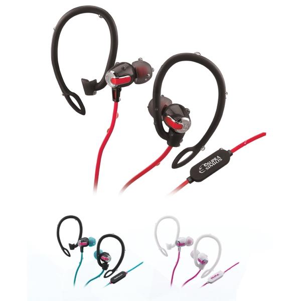Water-Resistant Bluetooth 2in1 Sport Earphones, Mic-Remote