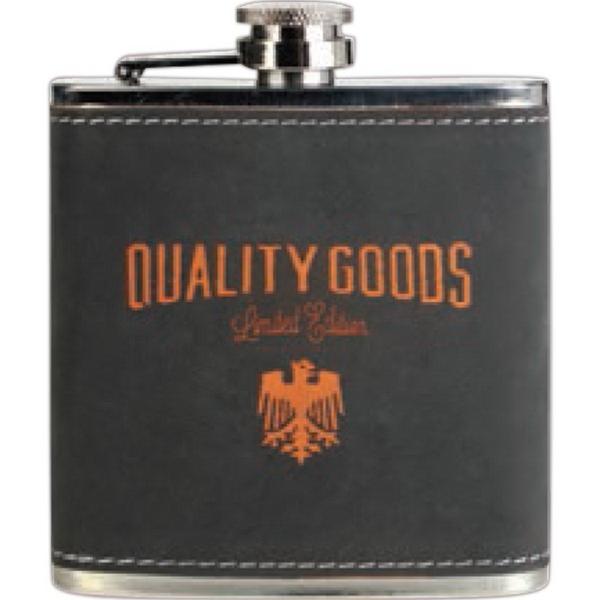 Dark Gray/Orange Stainless Steel Flask