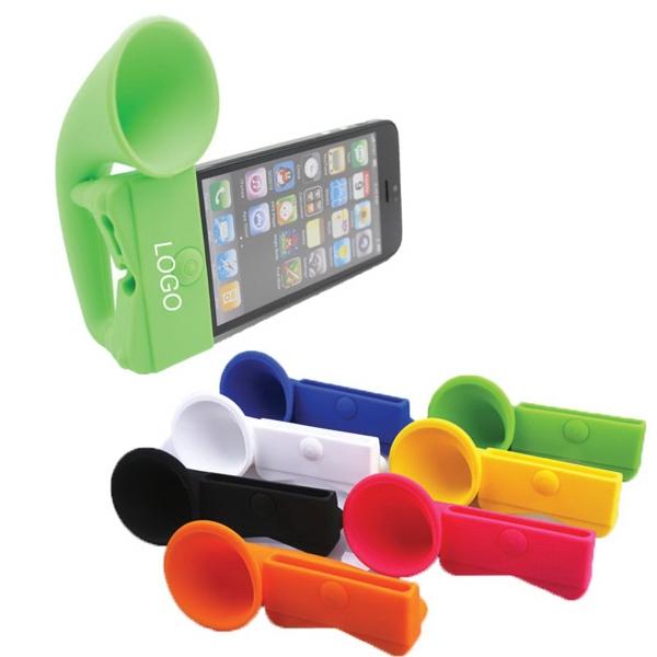 Silicone Horn Stand Megaphone Speaker, Sound Amplifier