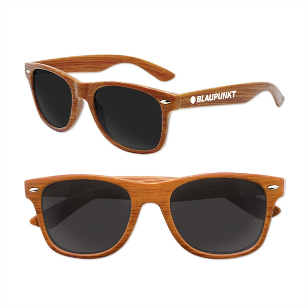 "Iconic ""Wood"" Grain Sunglasses"