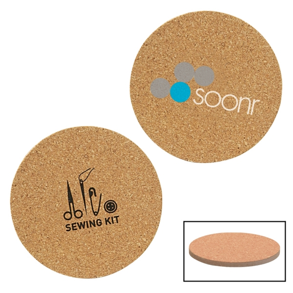Cork And Fiberboard Round Beverage Coaster