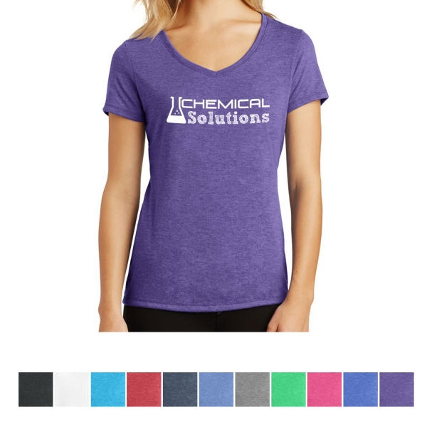 District Made (R)  Ladies' Perfect Tri (TM) V-Neck Tee