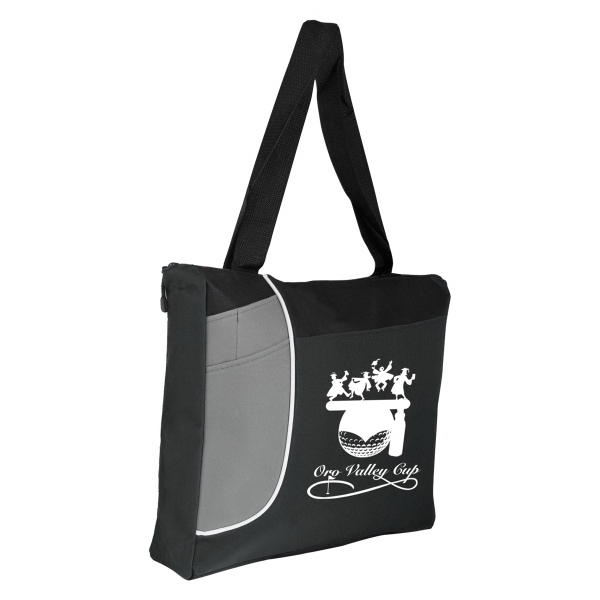 POLY ZIPPERED TOTE BAG