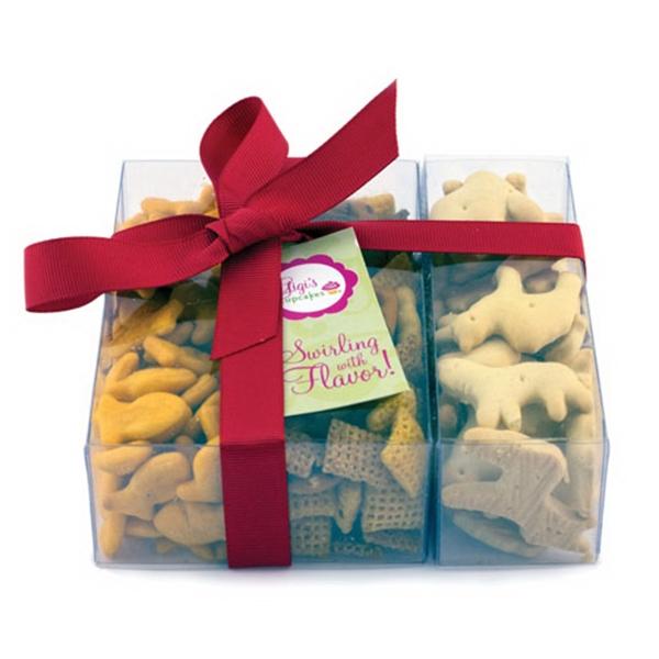 Triple Treat Present - Chex Mix, Goldfish, Animal Crackers