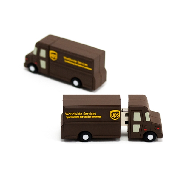 Custom 3D PVC USB Flash Drive - UPS Van