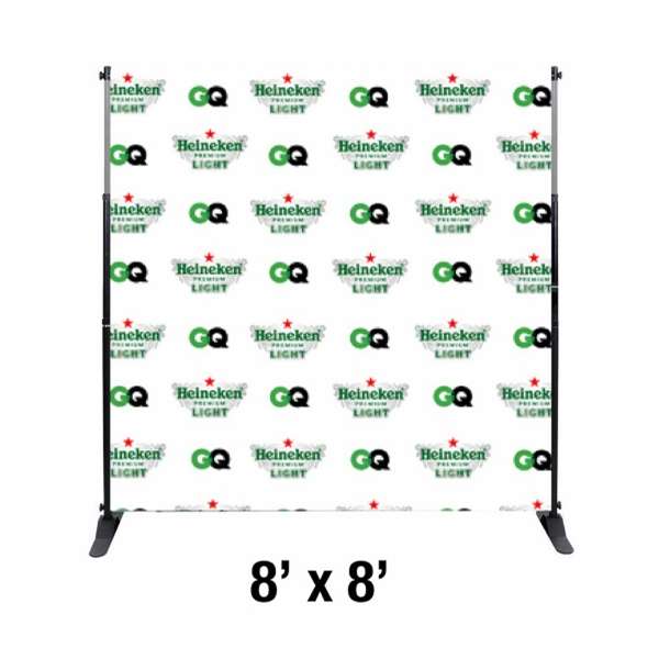 8\'x8\' Step and Repeat Banner with Frame