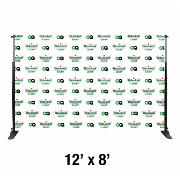 12\'x8\' Step and Repeat Banner with Frame