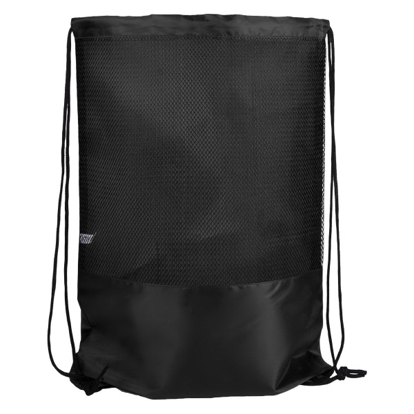 "Primera Polyester Bag Drawstring - 13 1/2"" x 17 1/2"" polyester drawstring bag with decorative mesh front and metal grommets."