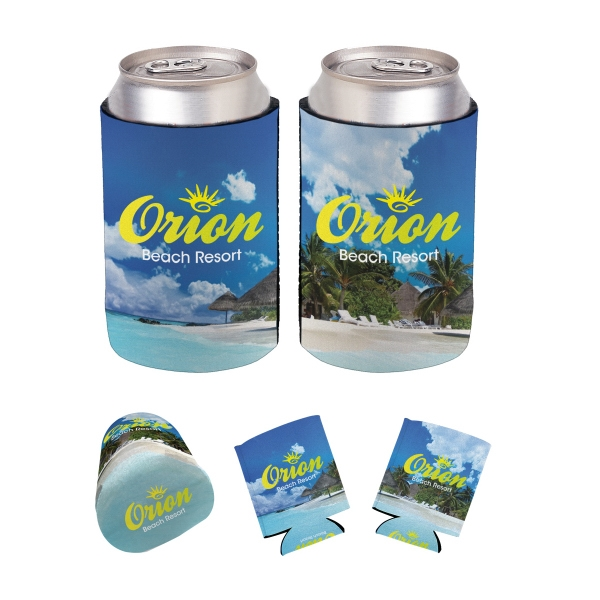 Full Color Kan-Tastic - Full color can holder that folds flat for easy storage.