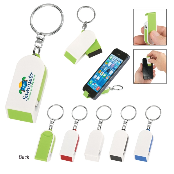 Phone Stand And Screen Cleaner Combo Keychain - Phone Stand And Screen Cleaner Combo Keychain