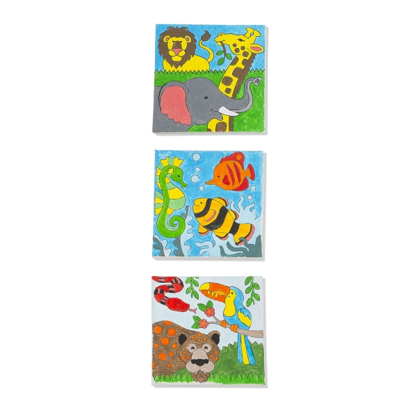Decorate-Your-Own Canvas Painting Set - Animals